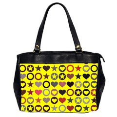 Heart Circle Star Seamless Pattern Office Handbags (2 Sides)