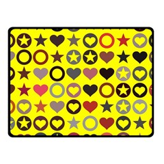 Heart Circle Star Seamless Pattern Fleece Blanket (small)