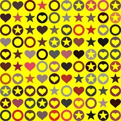 Heart Circle Star Seamless Pattern Magic Photo Cubes