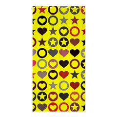 Heart Circle Star Seamless Pattern Shower Curtain 36  X 72  (stall)