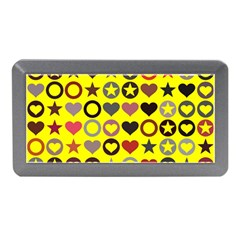Heart Circle Star Seamless Pattern Memory Card Reader (mini)