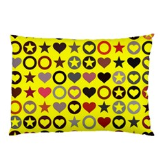 Heart Circle Star Seamless Pattern Pillow Case (two Sides)