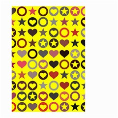 Heart Circle Star Seamless Pattern Small Garden Flag (two Sides)