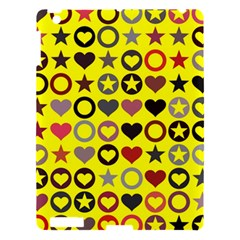 Heart Circle Star Seamless Pattern Apple iPad 3/4 Hardshell Case
