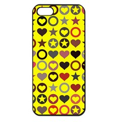 Heart Circle Star Seamless Pattern Apple Iphone 5 Seamless Case (black)