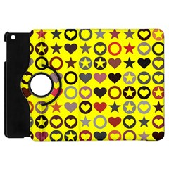 Heart Circle Star Seamless Pattern Apple Ipad Mini Flip 360 Case