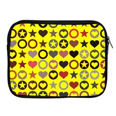 Heart Circle Star Seamless Pattern Apple Ipad 2/3/4 Zipper Cases