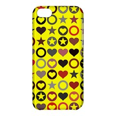 Heart Circle Star Seamless Pattern Apple Iphone 5c Hardshell Case
