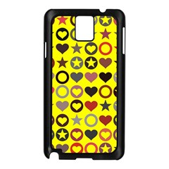 Heart Circle Star Seamless Pattern Samsung Galaxy Note 3 N9005 Case (black)
