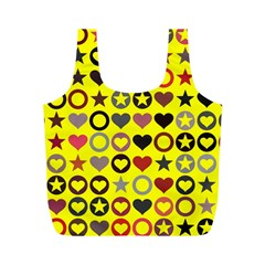Heart Circle Star Seamless Pattern Full Print Recycle Bags (m)