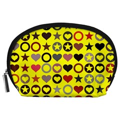 Heart Circle Star Seamless Pattern Accessory Pouches (large)