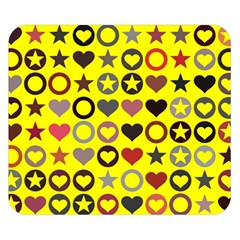 Heart Circle Star Seamless Pattern Double Sided Flano Blanket (small)