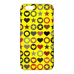 Heart Circle Star Seamless Pattern iPhone 6/6S TPU Case