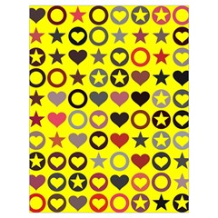 Heart Circle Star Seamless Pattern Drawstring Bag (large)