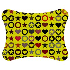 Heart Circle Star Seamless Pattern Jigsaw Puzzle Photo Stand (bow)