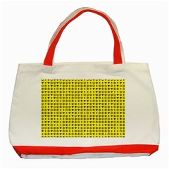 Heart Circle Star Seamless Pattern Classic Tote Bag (red)