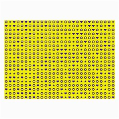 Heart Circle Star Seamless Pattern Large Glasses Cloth (2 Side)