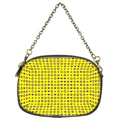 Heart Circle Star Seamless Pattern Chain Purses (one Side)