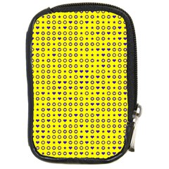 Heart Circle Star Seamless Pattern Compact Camera Cases