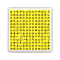 Heart Circle Star Seamless Pattern Memory Card Reader (square)