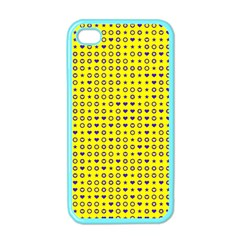 Heart Circle Star Seamless Pattern Apple Iphone 4 Case (color)