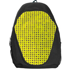 Heart Circle Star Seamless Pattern Backpack Bag