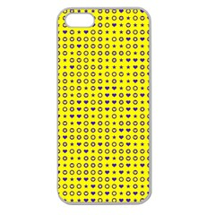 Heart Circle Star Seamless Pattern Apple Seamless Iphone 5 Case (clear)