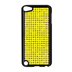 Heart Circle Star Seamless Pattern Apple Ipod Touch 5 Case (black)