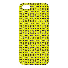 Heart Circle Star Seamless Pattern Apple iPhone 5 Premium Hardshell Case