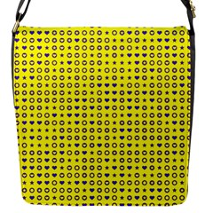 Heart Circle Star Seamless Pattern Flap Messenger Bag (s)