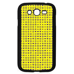 Heart Circle Star Seamless Pattern Samsung Galaxy Grand Duos I9082 Case (black)