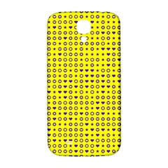 Heart Circle Star Seamless Pattern Samsung Galaxy S4 I9500/i9505  Hardshell Back Case