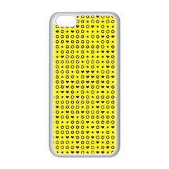 Heart Circle Star Seamless Pattern Apple Iphone 5c Seamless Case (white)