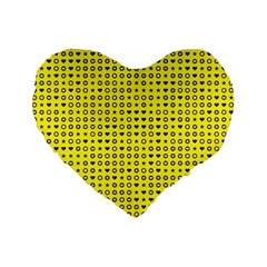 Heart Circle Star Seamless Pattern Standard 16  Premium Flano Heart Shape Cushions
