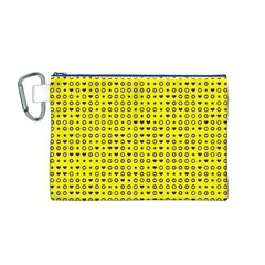 Heart Circle Star Seamless Pattern Canvas Cosmetic Bag (m)