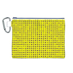 Heart Circle Star Seamless Pattern Canvas Cosmetic Bag (l)