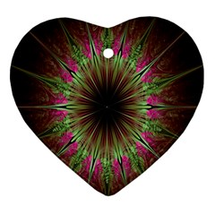 Julian Star Star Fun Green Violet Ornament (Heart)