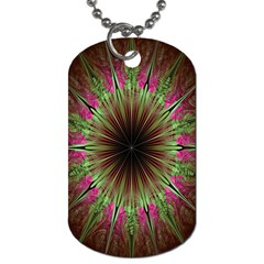 Julian Star Star Fun Green Violet Dog Tag (Two Sides)