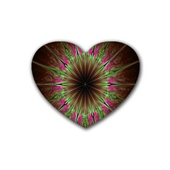 Julian Star Star Fun Green Violet Rubber Coaster (heart)