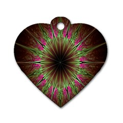 Julian Star Star Fun Green Violet Dog Tag Heart (two Sides)