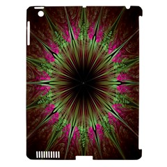 Julian Star Star Fun Green Violet Apple Ipad 3/4 Hardshell Case (compatible With Smart Cover)