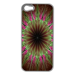 Julian Star Star Fun Green Violet Apple Iphone 5 Case (silver)