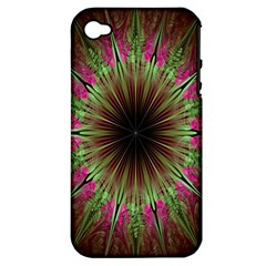 Julian Star Star Fun Green Violet Apple Iphone 4/4s Hardshell Case (pc+silicone)