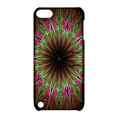 Julian Star Star Fun Green Violet Apple Ipod Touch 5 Hardshell Case With Stand