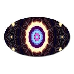 Mandala Art Design Pattern Ornament Flower Floral Oval Magnet