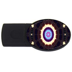 Mandala Art Design Pattern Ornament Flower Floral Usb Flash Drive Oval (4 Gb)