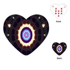 Mandala Art Design Pattern Ornament Flower Floral Playing Cards (heart)