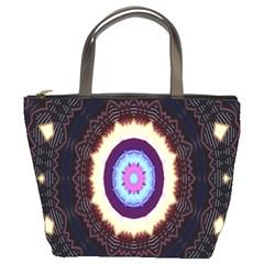 Mandala Art Design Pattern Ornament Flower Floral Bucket Bags