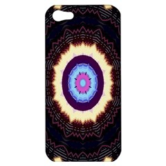 Mandala Art Design Pattern Ornament Flower Floral Apple Iphone 5 Hardshell Case
