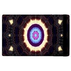 Mandala Art Design Pattern Ornament Flower Floral Apple Ipad 2 Flip Case